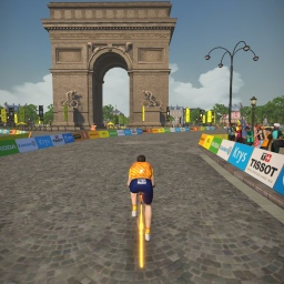 Virtual Tour de France on Zwift